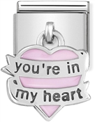 Nomination You're In My Heart Hanging Charm