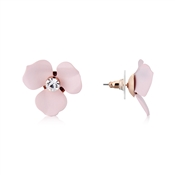 Pink Floret Earrings by Dirty Ruby