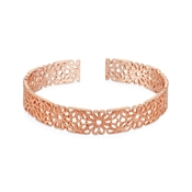 August Woods Rose Gold Lace Cuff Bangle