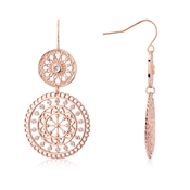 August Woods Rose Gold Lace Earrings