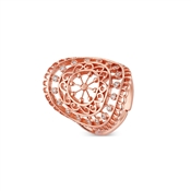 August Woods Rose Gold Lace Adjustable Ring