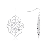 August Woods Silver Lace Drop Earrings