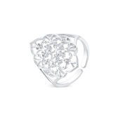 August Woods Silver Lace Adjustable Ring