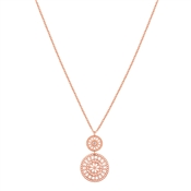 August Woods Rose Gold Lace Necklace