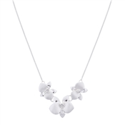 August Woods Silver Flower Shimmer Necklace