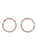 Ted Baker Rose Gold Linzzi Luunar Circle Earrings