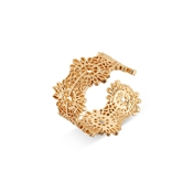 August Woods Gold Antique Lace Adjustable Ring