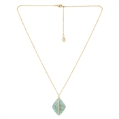 Dirty Ruby Green Marbled Gold Necklace