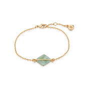 Dirty Ruby Green Marbled Gold Bracelet