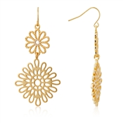 August Woods Gold Lace Drop Circle Earrings