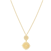 August Woods Gold Lace Drop Circle Necklace