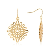 August Woods Gold Lace Drop Earrings