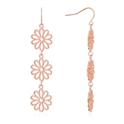 August Woods Rose Gold Floral Lace Drop Earrings