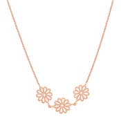 August Woods Rose Gold Floral Lace Necklace