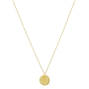 Argento Gold Vintage Rose Coin Necklace