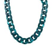 August Woods Green Acrylic Chain Necklace