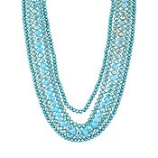 August Woods Turquoise Layered Necklace
