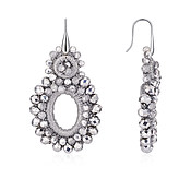 Dazzling Silver Statement Earrings by August Woods