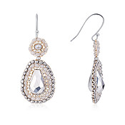 August Woods Silver Bejewelled Drop Earrings