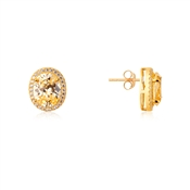 Argento Gold Imperial Yellow Crystal Earrings