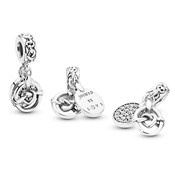 Pandora Knotted Hearts Pendant Charm