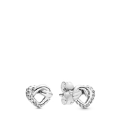 Pandora Knotted Hearts Stud Earrings