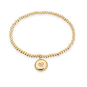 Karma Gold Heart Stretch Bracelet