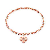 Rose Gold Clover Stretch Bracelet by Karma