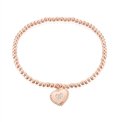 Karma Rose Gold Heart Stretch Bracelet