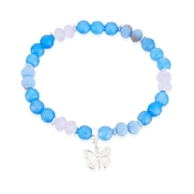 Blue Butterfly Stretch Bracelet by Karma