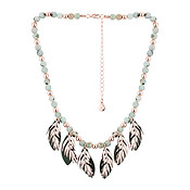 Dirty Ruby Beaded Feather Spirit Necklace