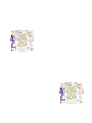 Kate Spade New York Mini Iridescent Square Earrings