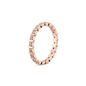 Argento Rose Gold Rectangle Crystal Stacking Ring