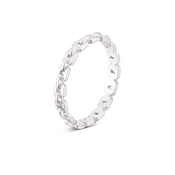 Argento Silver Linked Chain Stacking Ring