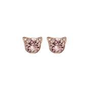 Karl Lagerfeld Rose Gold Choupette Earrings