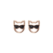 Karl Lagerfeld Rose Gold Choupette Sunglasses Earrings