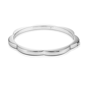 Kate Spade New York Silver Scallop Bangle