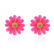 Kate Spade New York Hot Pink Daisy Stud Earrings