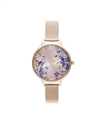 Olivia Burton Best In Show Rose Gold Floral Watch
