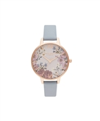Olivia Burton Floral Blooms Chalk Blue + Rose Gold Watch