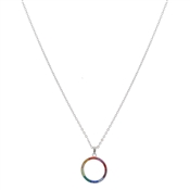 August Woods Silver Rainbow Hoop Necklace