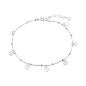 Argento Silver Coin Anklet