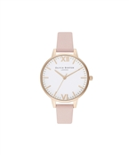 Olivia Burton Timeless Dusty Pink + Pale Gold Watch