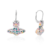 Vivienne Westwood Silver + Pink Celeste Drop Earrings