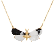 Vivienne Westwood Black + Gold Butterfly Necklace