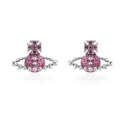 Vivienne Westwood Lena Silver + Pink Earrings