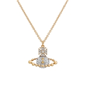 Vivienne Westwood Lena Gold Bas Relief Necklace
