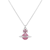 Vivienne Westwood Lena Silver + Pink Small Necklace