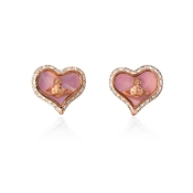 Vivienne Westwood Rose Gold + Pink Petra Earrings