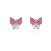 Vivienne Westwood Pink Butterfly Earrings